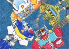 Transformers Rescue Bots Blades, Boulder, Chase, Headwave and Cody Transformers Prime, Transformers Robots, Rescue Bots, Clear Card, Marvel, Miraculous Ladybug, Nerd, Fan Art, Deviantart