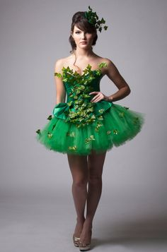 diy poison ivy costume with tutu - Google Search                                                                                                                                                      More