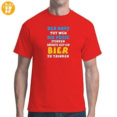 Fun unisex T-Shirt - Kopf Tut Weh by Im-Shirt - Rot L - Shirts mit spruch (*Partner-Link)