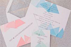triangle wedding invitation