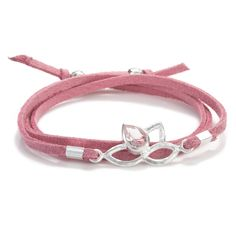 Pink Wrap Bracelet. Don't like the middle hardware but cute idea