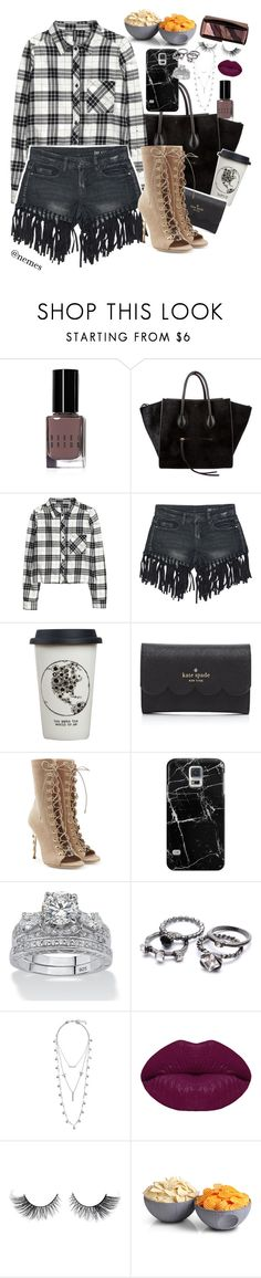 """""""e a s y - s p r i n g"""" by nemes-margareta-anna ❤ liked on Polyvore featuring Bobbi Brown Cosmetics, CÉLINE, H&M, Sans Souci, Natural Life, Kate Spade, Balmain, Casetify, Palm Beach Jewelry and Lucky Brand"""