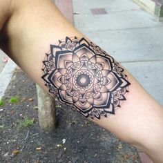 Mandala tattoo designs fall into the category of spiritual tattoos as they have deeper spiritual meaning, which make them very different from the rest Mandala Tattoo Mann, Tattoos Mandalas, Mandala Rose Tattoo, Mandala Tattoo Design, Tattoo Designs, Forearm Mandala Tattoo, Yoga Tattoos, Forearm Tattoos, Body Art Tattoos