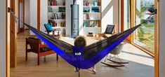 Hang your hammock indoors with this Deluxe Hammock Hanging Kit from ENO. It's simple and has a clean look with hidden hardware. Enjoy hanging your indoor Hammock and pick up this easy install right here from Everything Summer Camp! Indoor Hammock, Hammocks, Bedroom Corner, Study Areas, Easy Install, New Print, Aluminium Alloy, Innovation Design, Outdoor Furniture
