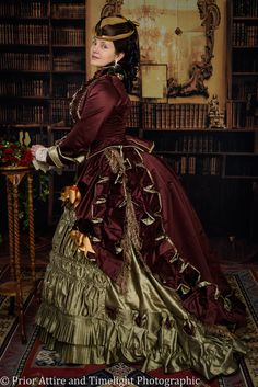 a replica of the Emile Pingat dress ( from the MET) by Prior Attire Victorian 1872