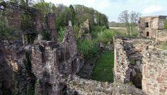 Kraichtal Menzingen Wasserschloss Ruine Luftbild