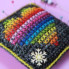 Hygge Pincushion crochet pattern for the sewist