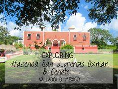 Cycling to and Exploring Hacienda San Lorenzo Oxman and Cenote near Valladolid, Mexico