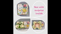 Handmade Explosion Gift Box Made Out Of Cardstock Paper Glue, Paper Crafts, Paper Gift Box, Paper Boxes, Birthday Explosion Box, Dawns Stamping Thoughts, Paper Purse, Art Basics, 3d Pattern