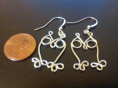 Wire wrapped owl earrings