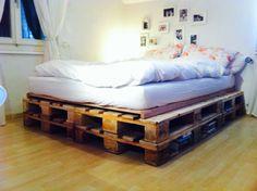 Bett aus Paletten ❤️