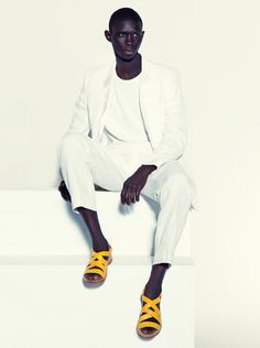 Fernando Cabral modeling for his brother's footwear line, Armando Cabral for the Fall/Winter 2012 season.