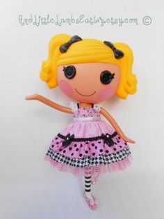Lalaloopsy Clothes  LayerCake Dress  Pink by AndLittleLambsEatIvy, $14.00