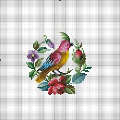 Tiny Cross Stitch, Cross Stitch Borders, Cross Stitch Flowers, Cross Stitch Charts, Cross Stitch Designs, Cross Stitching, Cross Stitch Embroidery, Cross Stitch Patterns, Hand Embroidery Designs