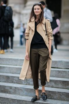 Trenchcoat #ootd easy going mit Gucci Loafer #fashion