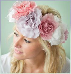 DIY Flower Crown. Id love for the bridesmaids to wear burlap flower crowns.