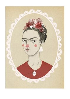 Frida Kahlo by Clare Owen