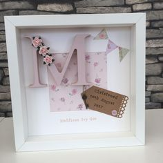 Personalised New Baby, Birth, Christening, Boy & Girl Name Frame Gift | Baby, Christening & Gifts, Christening | eBay!
