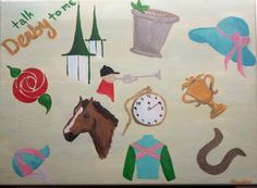 Kentucky Derby Painting on Etsy, $35.00
