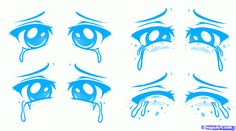 the many faces of anime | how to draw a sad face, sad anime face step 1