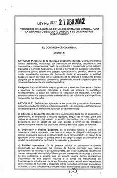 ley 1527 27 de abril 2012
