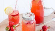 Erfrischung mit easy peasy Erdbeer-Melonen-Limonade und ein Brettchen für euch!