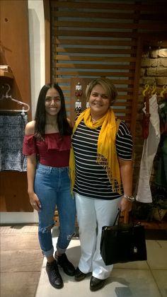 Muito bacana, duas gerações mãe e filha que amam moda!!!