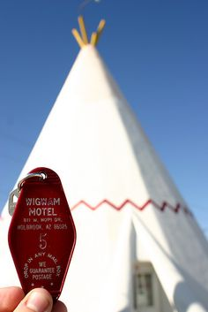 stay in a teepee @ the Wigwam Hotel in Holbrook, AZ