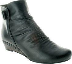 classic wedge-heeled bootie