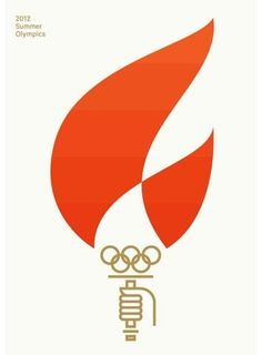 Olympics - I like the use of the rings logo in this design making it clear this is the Olympic torch which otherwise may have been too abstract to discern.