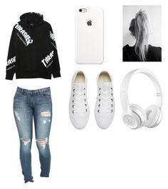 """""""❤❤❤"""" by pearl24 ❤ liked on Polyvore featuring beauty, HUF, Converse and Beats by Dr. Dre"""