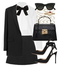 """Sin título #4351"" by hellomissapple on Polyvore featuring moda, Yves Saint Laurent, Gucci, Givenchy, Gianvito Rossi, ASOS, Burberry y CÉLINE"