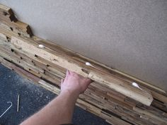 Installation Of Wall Paneling Glue - Woodworking Guide, Custom Woodworking, Woodworking Projects Plans, Wood Mosaic, Mosaic Wall, Wood Turning Projects, Wood Stone, Wall Cladding, Upcycled Crafts