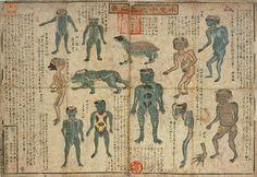 "Kurimoto Tanshu ""Kappa drawings from mid-19th century Suiko juni-hin no zu"""
