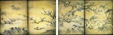 Know about 10 of the greatest artists in the rich history of Japanese art and have a look at their most famous paintings and prints. Korean Painting, Japanese Painting, Chinese Painting, Painting Art, Japanese Screen, Art Asiatique, Japanese History, Japanese Landscape, Bonsai Art