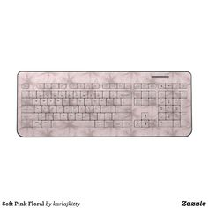 Shop Soft Pink Floral Wireless Keyboard created by karlajkitty. Electronics Accessories, Semi Transparent, White Flowers, Keyboard, Custom Design, Floral, Pink, Bespoke Design, Florals