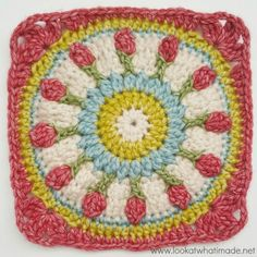 I am very excited to bring you my latest crochet square: Wishing Well. Designed for the Moogly CAL 2016 , it was inspired by a flight of fancy. My favourite book (and musical) is Les . Granny Pattern, Crochet Motif Patterns, Crochet Blocks, Square Patterns, Crochet Squares, Knitting Patterns, Granny Squares, Crochet Coat, Crochet Yarn