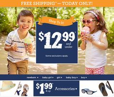 Gymboree Sale + FREE Shipping!! Items As Low As $1.99 Shipped! (TODAY ONLY) - http://couponingforfreebies.com/gymboree-sale-free-shipping-items-as-low-as-1-99-shipped-today-only/