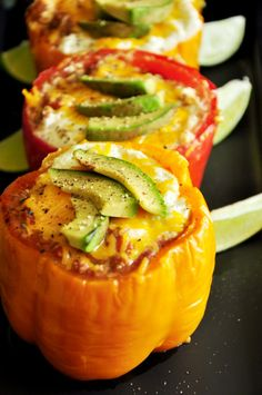 Taco Stuffed Peppers, sometime I may have to recreate soon... It looks absolutely delicious! The fact that tacos is my life doesn't exactly help ;)
