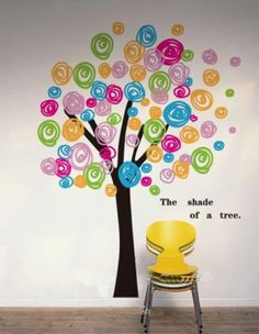 Hight-150cm-Candy-Tree-Words-Vinyl-Wall-Paper-Decal-Art-Sticker-Q200