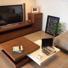 Lounge/ナチュラル/家具/ローテーブル/リビングテーブル/ウォールナット...などのインテリア実例 - 2016-07-29 06:15:34