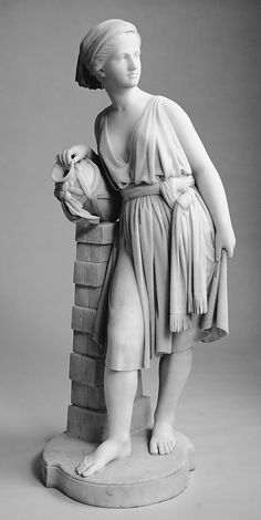 Chauncey B. Ives, Rebecca at the Well, 1866, Marble, 127 x 41,9 x 41,9 cm, The Metropolitan Museum of Art, New York