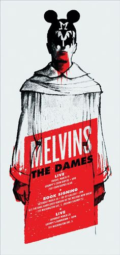 GigPosters.com - Melvins, The - Dames, The ::: Poster by Aesthetic Apparatus ::: www.dutchuncle.co.uk