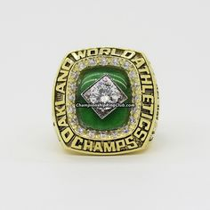 1989 Oakland Athletics World Series Championship Ring. Best gift from www.championshipringclub.com for  Athletics fans. Custom your own personalized championship ring now.