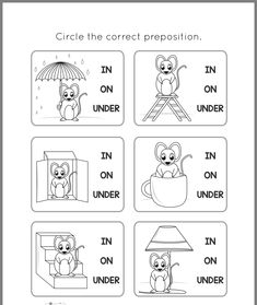 In​ on​ under English Activities For Kids, English Grammar For Kids, English Worksheets For Kindergarten, Learning English For Kids, English Worksheets For Kids, English Lessons For Kids, Kids English, English Language Learning, Teaching English