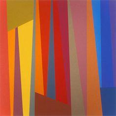 Karl Benjamin: #5, 1994, oil on canvas, 122 x 122 cm (48 x 48 in)