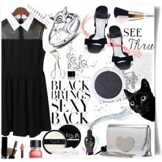 My see-through LBD - YesStyle on Polyvore