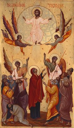 The Ascension Of Christ Painting - The Ascension Of Christ Fine Art . Jesus Christ Images, Jesus Art, Early Christian, Christian Art, Religious Icons, Religious Art, Ascension Of Jesus, Greek Icons, Jesus Painting