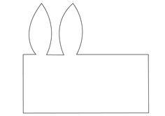 Sobre-tarjeta con forma de conejo - molde