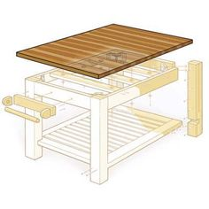 Illustration: Gregory Nemec | thisoldhouse.com | from How to Build a Butcher-Block Island